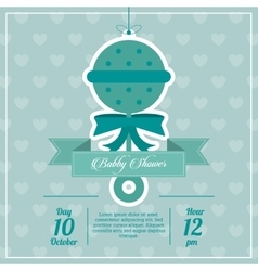 Baby shower design maraca icon blue vector