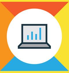 bar diagram colorful outline symbol premium vector image