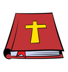 Bible book icon icon cartoon vector