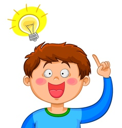 Boy with an idea vector