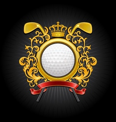 coat of arms golf symbol vector image vector image
