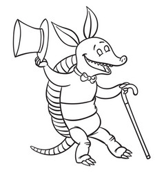 Dancing armadillo vector
