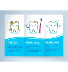 Dental care leaflet design vector