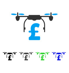 drone pound business flat icon vector image vector image