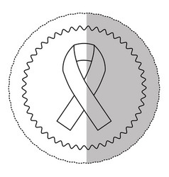figure breast cancer ribbon image vector image