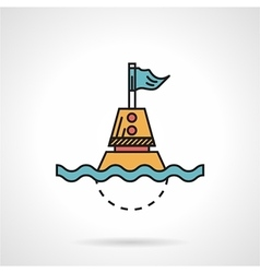 Flat design icon for maritime buoy vector image