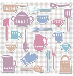 kitchen utensils sticks vector image vector image