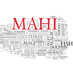 Mahi word cloud concept vector