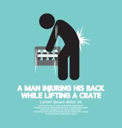 Man injuring his back symbol vector