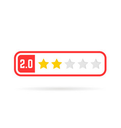 negative feedback frame like two stars vector image vector image