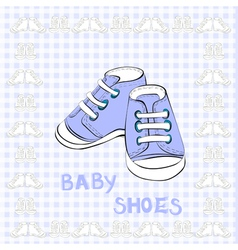 of a pair blue shoes vector image vector image