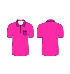 Pink polo t shirt vector