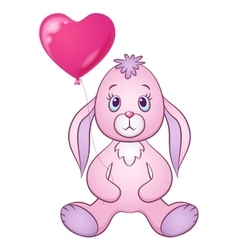 Rabbit with Heart Balloon vector image