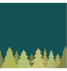 Seamless border from pine fir tree and night sky vector