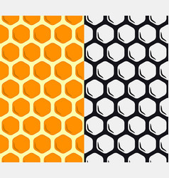 Seamless honeycomb pattern geometric background vector