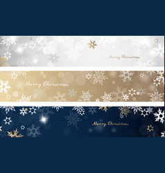 set of three colorful christmas background vector image vector image