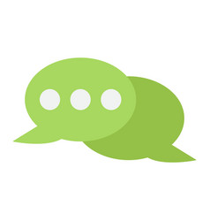 Speech bubble flat con chat and website vector