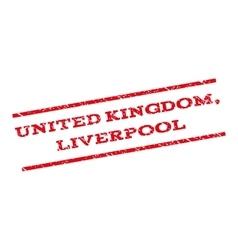 United kingdom liverpool watermark stamp vector