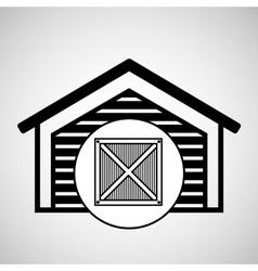 storage building wooden box delivery icon vector image