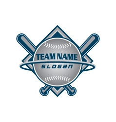 Baseball team logo vector