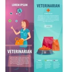 Vet clinic vertical banners vector