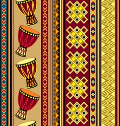 african drum beckground vector image