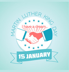 15 january martin luther king day vector