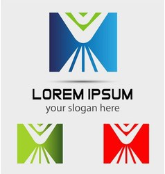 Logo design square element use in the media mobi vector