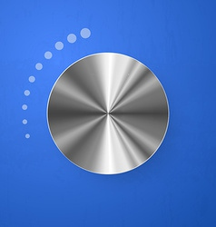 Stainless chrome volume button vector