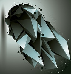 3d mesh modern stylish construction origami facet vector