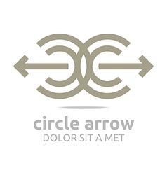 Logo design letter c arrow brown iccircle arrow 17 vector