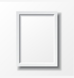 White vertical frame vector
