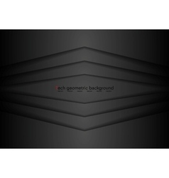 Corporate black abstract background vector