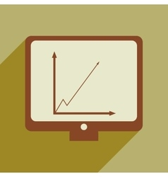 Flat web icon with long shadow infographics vector