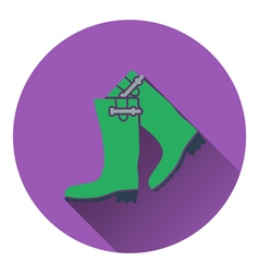Icon of hunters rubber boots vector