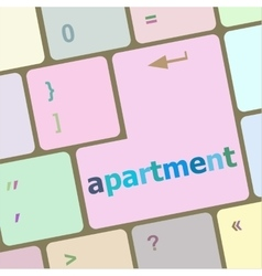 Computer keyboard with apartment button vector