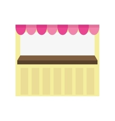Shopping concept store icon pennant vector