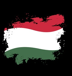 Hungary flag grunge style on black background vector