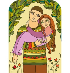 Love Married Couple vector image