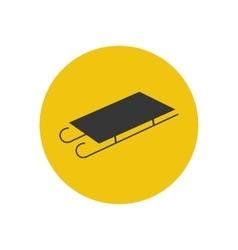 Sleigh silhouette icon vector