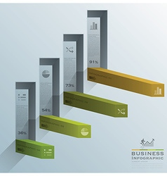 Modern square bar diagram stair step business vector