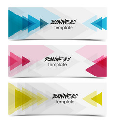 Abstract web banner vector