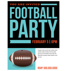 american football party flyer invitation vector image vector image