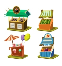 Cart stall food vector
