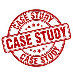 Case study red grunge round vintage rubber stamp vector