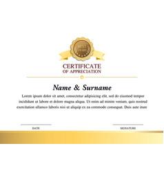 Certificate template warranty 7 vector