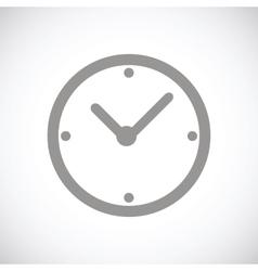 Clock black icon vector