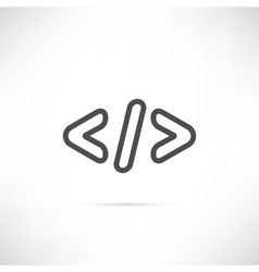 Coding Simple Icon vector image