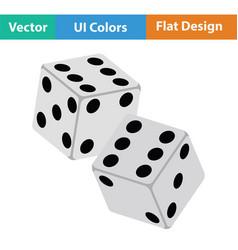 craps dice icon vector image vector image