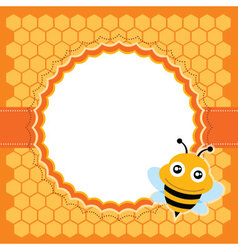 Cute bee vector image vector image